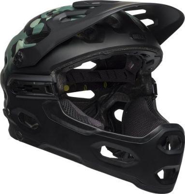 Casque Bell Super 3R MIPS Noir/Vert foncé