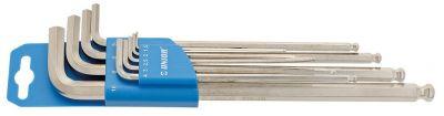 Set clés hexagonales Unior longues à tête sphérique 1,5-10 mm 9 pièces 220/3SLPH