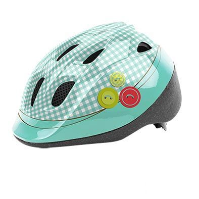 Casque Enfant Baby Headgy Tailor Turquoise/Blanc