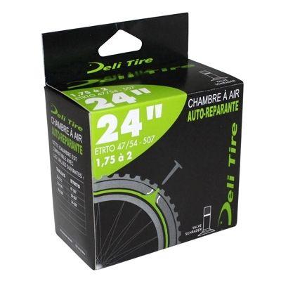 Chambre à air anti-crevaison Deli Tire 24 x 1.75-2.00 Valve Schrader