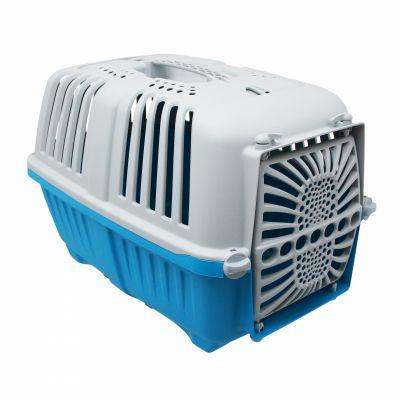 Panier arrière Bellelli Peggy Pet Box pour chien Fix. sur cadre Bleu Turquoise/Gris