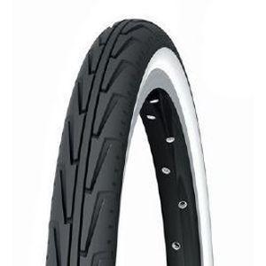 Pneu Michelin Confort City J. 400A Confort 16 x 1.3/8 Noir/Flancs blancs