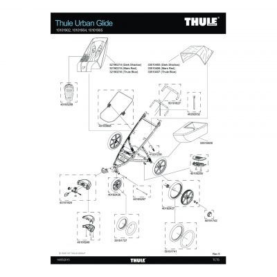 Embout d'axe de roue Thule 16'' - 50191742