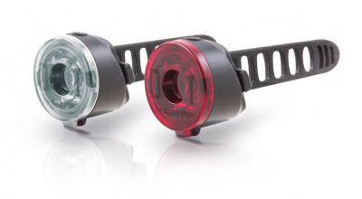Éclairage avant + arrière Spanninga Dot Front et Rear (À piles)