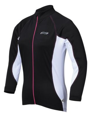 Maillot manches longues Femme BBB sleeve jersey (noir/blanc) - BBW-176