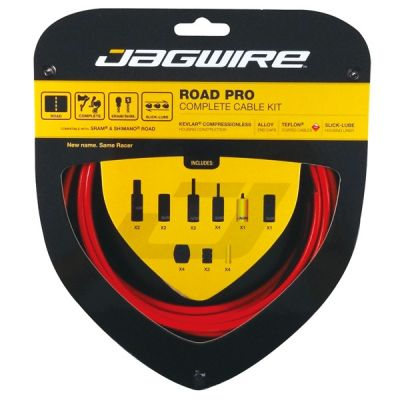 Kit complet câbles et gaines Jagwire Road Pro - Rouge RCK006