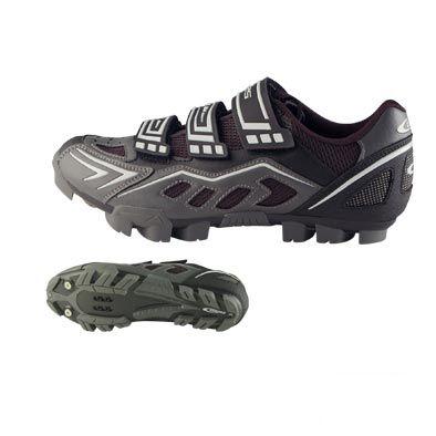 Chaussures VTT GES Ranger 3 Velcros Argent/Noir