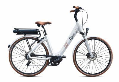 """Vélo électrique O2Feel Swan Alfine 8 Di2 26"""" 504 Wh Blanc"""