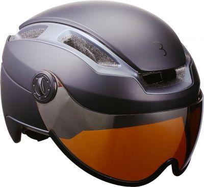 Casque BBB Indra VAE Speed 45 km/h Masque intégré Noir Mat - BHE-56F