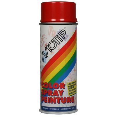 Bombe de peinture rouge feu brillant RAL 3000 400 ml M01628
