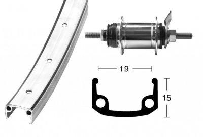 Roue arrière Shimano 28 x 1 3/8 à 1 vitesse 36 Trous