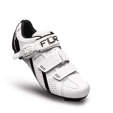 Chaussures Route FLR Pro F-15 Clic + 2 Bandes auto agrippantes Blanc