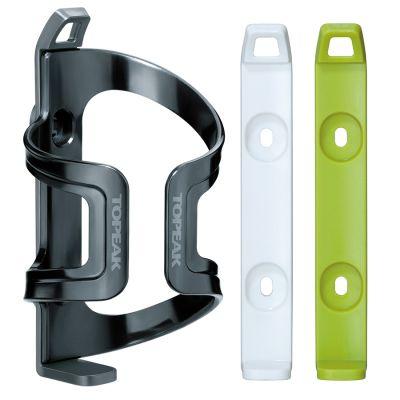 Porte-bidon latéral Topeak DualSide Cage EX Gris/Blanc/Vert