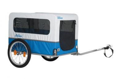 """Remorque vélo XLC pour chien Doggy Van BS-L04 16"""" à timon latéral Bleu/Argent"""