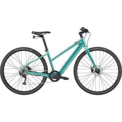 VTC électrique femme Cannondale Quick Neo SL 2 Remixte Turquoise 2020