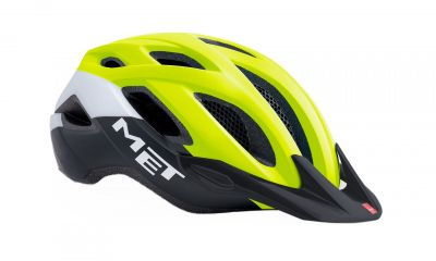 Casque MET Crossover Safety Jaune/Noir/Blanc Mat