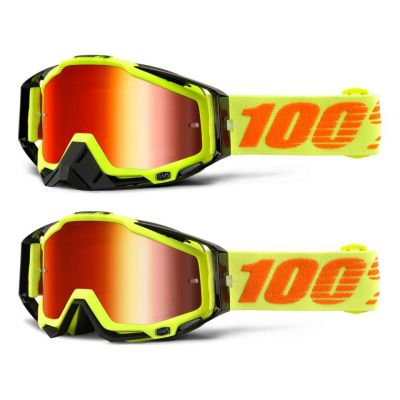 Masque 100% Racecraft Attack Yellow/Red