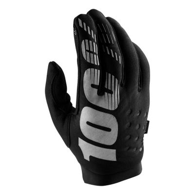 Gants 100% Brisker Black/Grey