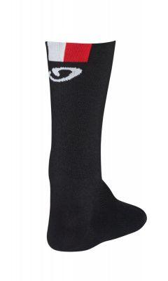 Chaussettes Giro COOLMAX HIGH-RISE noir/blanc/rouge
