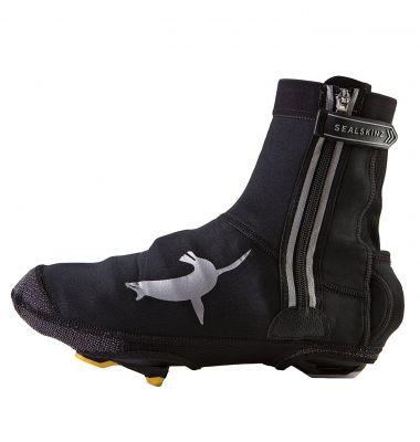 Sur-chaussures imperméable SealSkinz néoprène Halo avec feu LED Noir