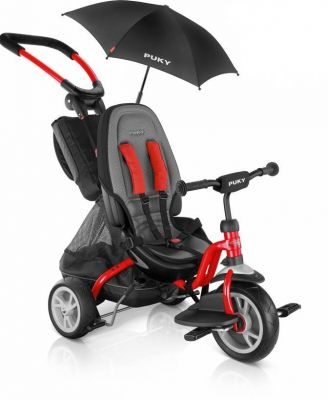 Tricycle 2x1 PUKY CAT S6 Ceety + Parasol 1 an 1/2 Rouge