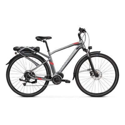 Vélo électrique Kross Trans Hybrid 3.0 Homme Gris/Rouge