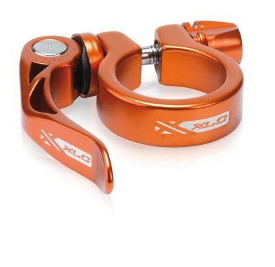 Collier tige de selle XLC PC-L04 Alu 34,9 mm serrage rapide Orange