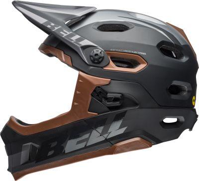 Casque Bell Super DH MIPS à mentonnière amovible Noir mat/brillant/Gum