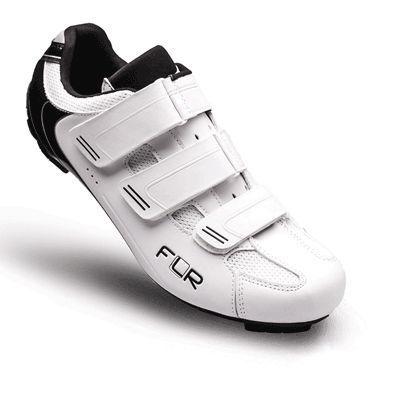 Chaussures Route FLR Pro F-35 3 Bandes auto agrippantes Blanc