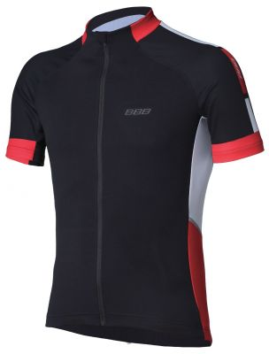 Maillot été BBB jersey ComfortFit Noir/Rouge - BBW-234