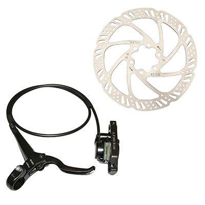 Kit frein à disque hydraulique AV Tektro Auriga 2.85 PostMount avec disque et adaptateur Noir