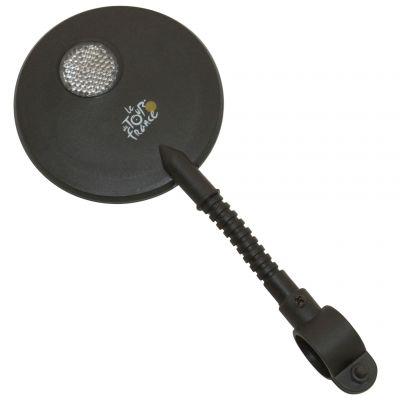 Rétroviseur G ou D Rond 80 mm Fixation flexible sur cintre Noir