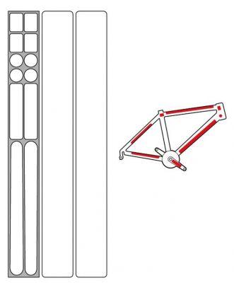 Kit protection de cadre Zéfal Skin Armor L Transparent