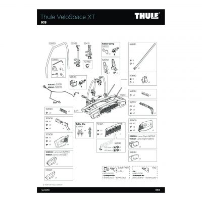 Kit de support de plaque Thule - 52910