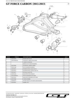 Axe de pivot (Femelle) GT Force Carbon / Zaskar 100