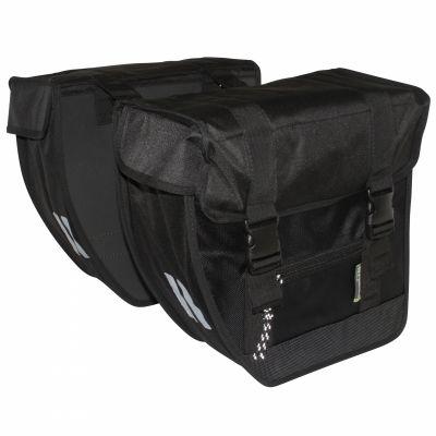 Sacoche arrière double BASIL Tour XL 40 L Noir