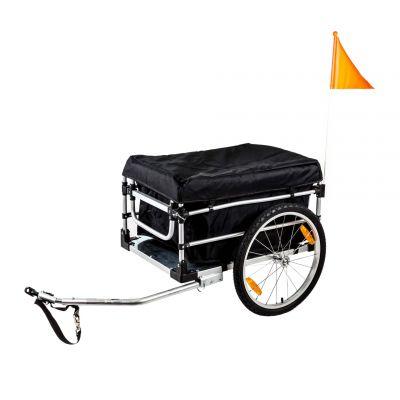 """Remorque à vélo utilitaire 20"""" Aluminium Timon bas Avec bâche"""