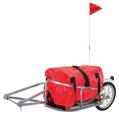 "Remorque vélo Superbag 16"" avec sac nylon rouge"
