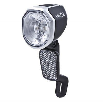 Éclairage avant Spanninga Kendo+ LED VAE 36V 30 LUX Noir/Gris