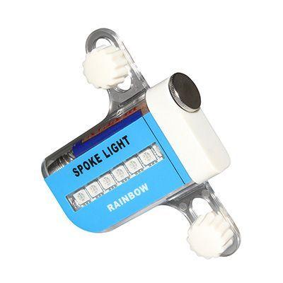 Éclairage holographique sur roue Spoke Light Rainbow 7 LEDs