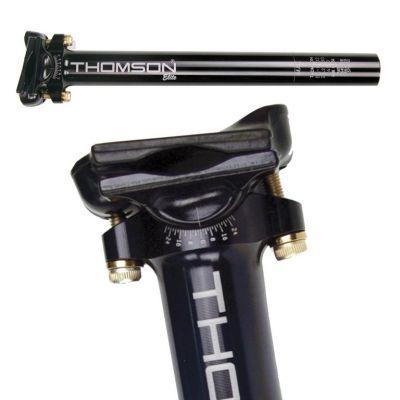Tige de selle Thomson Elite noire 31,6 mm x 410 mm