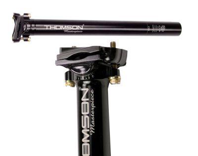 Tige de selle Thomson Masterpiece noire 31,6 mm x 350 mm Recul 16 mm