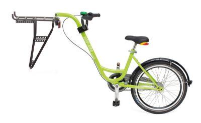 """Vélo suiveur Roland ADD+BIKE 20"""" 3 vitesses + porte-bagages Vert"""
