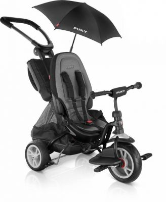 Tricycle 2x1 PUKY CAT S6 Ceety + Parasol 1 an 1/2 Noir