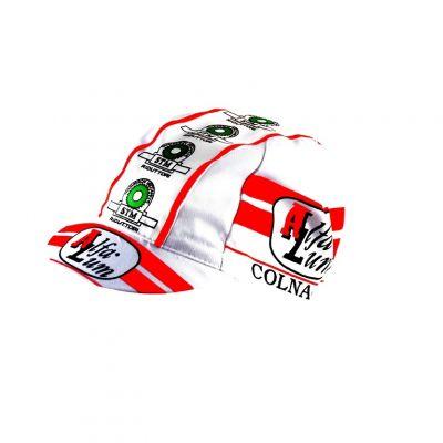 Casquette Equipe Vintage Alfa Lum Colnago Blanc/Rouge
