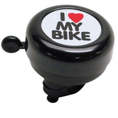 Sonnette Timbre I Love My Bike 50 mm Noir