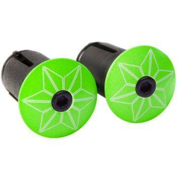 Bouchons de cintre Supacaz Star Plugz Vert Fluo
