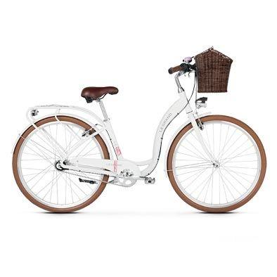 Vélo urbain femme Le Grand Lille 5 Blanc