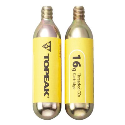 Cartouche CO2 Topeak 16 g filetée (2 pièces)