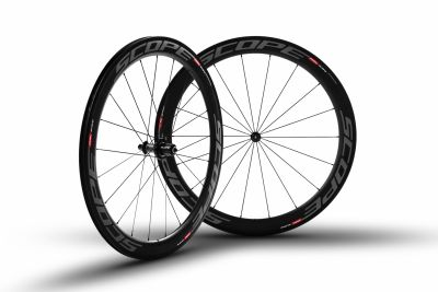 Roues carbone Scope R5c 55 mm pneu Shimano 11V Gris